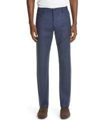 men's canali heathered sport men's wool dress pants, size 44 eu - blue