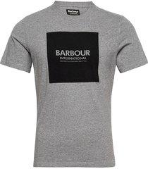 b.intl block tee t-shirts short-sleeved grå barbour