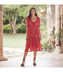 sundance catalog women's brieia bandana dress 2xl