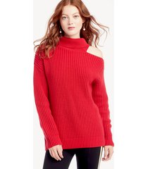 astr women's sepulveda sweater in color: cherry red size large from sole society