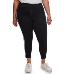 calvin klein plus size logo print leggings
