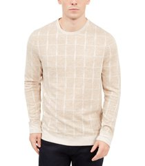 alfani men's jacquard grid sweatshirt, created for macy's