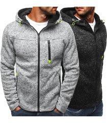 2017 new autumn winter men's hoodies contrast color slim thickened fleece hoodie