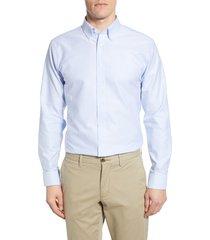 men's 1901 trim fit oxford dress shirt, size 17 - 32/33 - blue