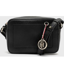 cartera int saffiano charm crossover classic  negro tommy hilfiger