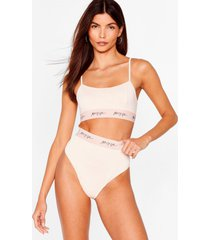 womens word on the street bralette and panty set - blush