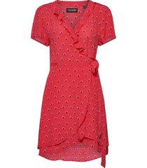summer wrap dress kort klänning röd superdry
