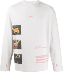 a-cold-wall* glass photo-print long sleeved t-shirt - grey