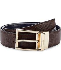 bally men's astor leather belt - brown - size 44