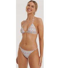 na-kd swimwear detail thin strap bikini brief - multicolor