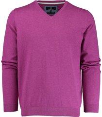 basefield v-hals pullover 219013879/607 trui paars