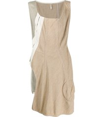 comme des garçons pre-owned 1999 patchwork asymmetric dress - neutrals
