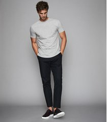 reiss bless - crew neck t-shirt in grey marl, mens, size xxl