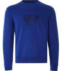 emporio armani dashed eagle sweatshirt | blue | 3k1mp5-1jtnz