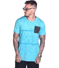 camiseta royal brand long mold azul