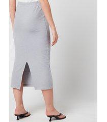 our legacy women's rib tube skirt - grey - fr 40/uk 12