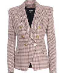 6 btn houndstooth jacket