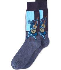 hot sox men's socks, old guitarist crew