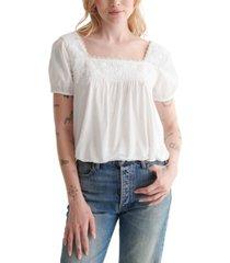lucky brand short-sleeve boho shirt