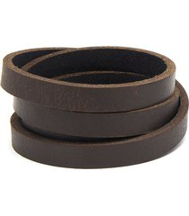 pulsera de mujer chocolate stringa 4 giri leather collection vestopazzo
