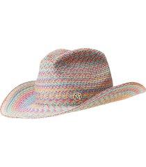 maison michel austin woven cowboy hat - blue