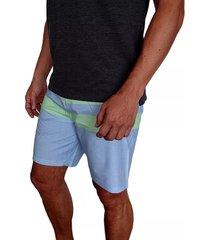 pantaloneta hurley phantom blackball beater para hombre - agua/verde