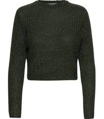 woolly ribbed girlfriend sweater stickad tröja grön cathrine hammel