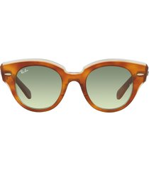 ray-ban ray-ban rb2192 havana on transparent green sunglasses