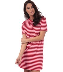 only june stripe dress size 6-8 in red