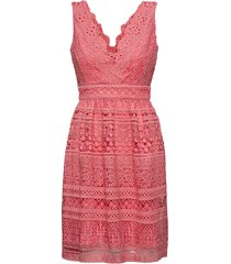 allison dress korte jurk roze by malina