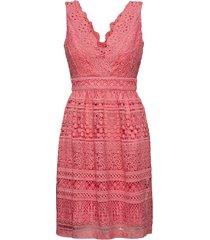 allison dress korte jurk roze by malina