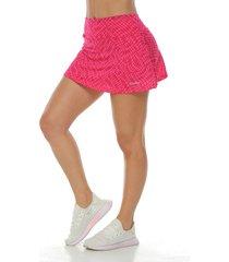 falda con licra interior, color magenta para mujer