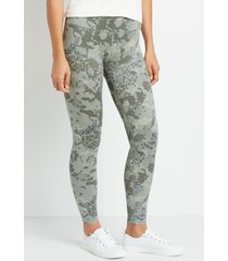 maurices womens high rise mix camo full length luxe leggings green