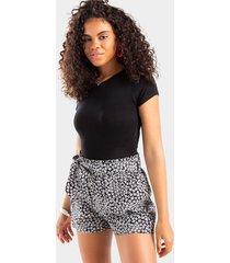 scarlett paperbag shorts - black