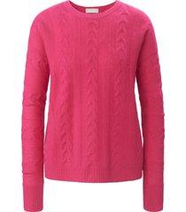 trui met ronde hals van 100% kasjmier van include roze