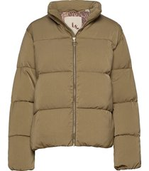 soft quilted jacket in print and solid fodrad jacka grön scotch & soda