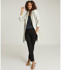 reiss remey - silk front vest in navy, womens, size xl