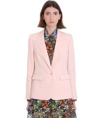 blazer in rose-pink wool