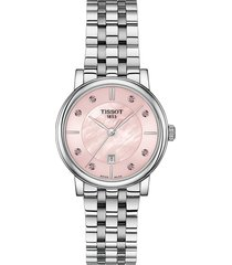 women's tissot carson premium topaz bracelet watch, 30mm