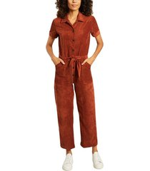 brooke short sleeves corduroy jumpsuit