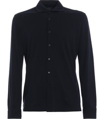 majestic filatures black cotton jersey long sleeve shirt