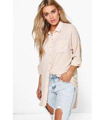 plus oversized blouse, steenrood