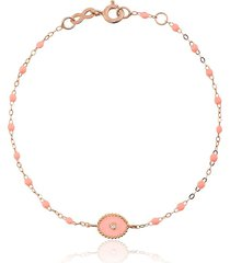 gigi clozeau 18kt rose gold classic gigi north star salmon pink and