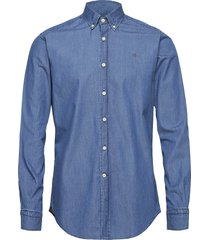 julian button down denim shirt overhemd business blauw morris