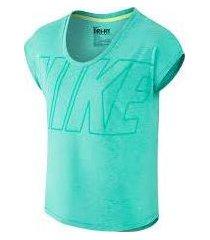 camiseta dama nike 638900-349 aguamarina