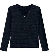 blusa alenice com pérolas feminina - feminino