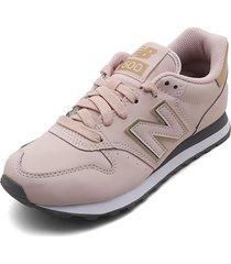 tenis lifestyle rosa-dorado new balance 550