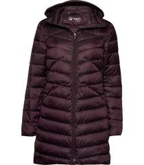 kataja w jacket gevoerde lange jas rood halti