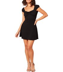women's l space sirena cover-up minidress, size x-large - black