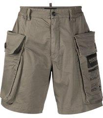 dsquared2 straight-leg cargo shorts - green